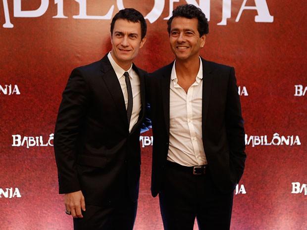 Gabriel Braga Nunes e Marcos Palmeira  (Foto: Fábio Rocha / Gshow)