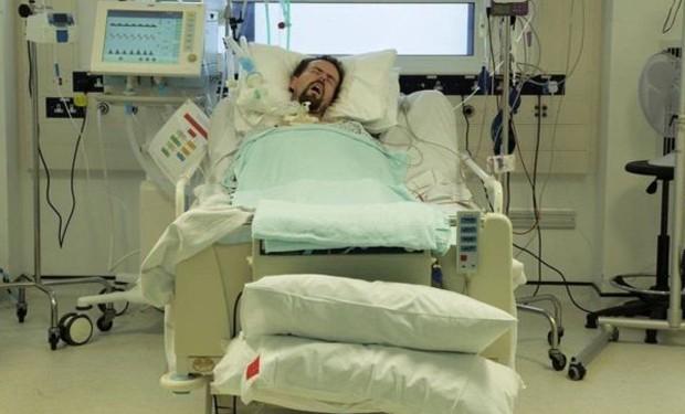 Terry ficou mais de 100 dias no hospital - e, na maior parte do tempo, não conseguia se mexer  (Foto: Arquivo Pessoal)