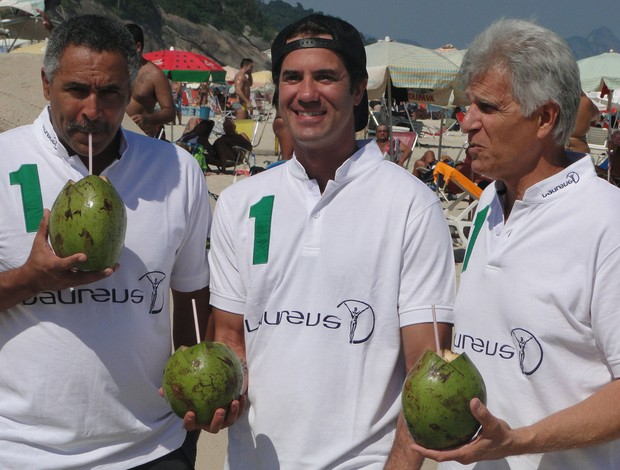 Laureus Daley Thompson, Bob Burnquist e Mark Spitz  (Foto: Helena Rebello)
