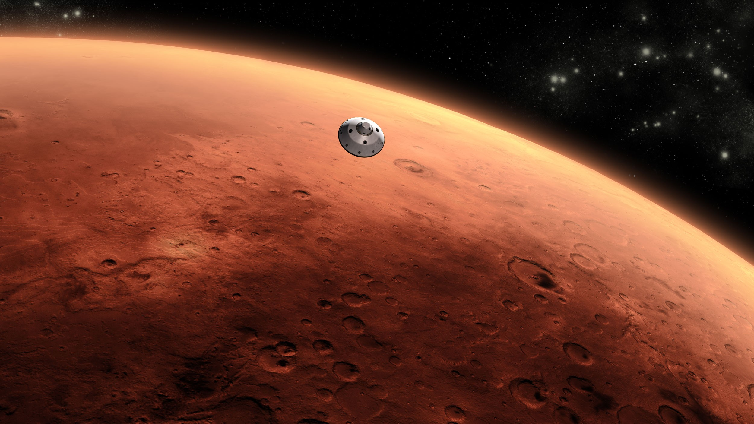 Representação de Marte pela Nasa (Foto: Nasa)