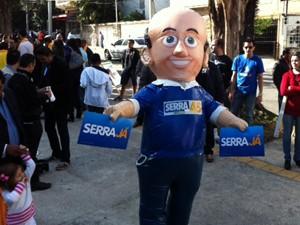 Boneco Serra  (Foto: Roney Domingos/G1 )