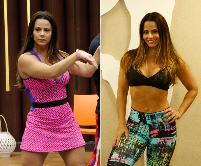Viviane Araújo está mais sequinha! (Foto: Fábio Rocha/Raphael Dias/Gshow)