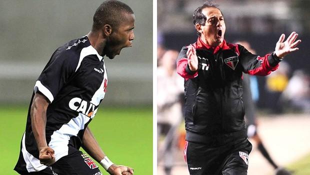 Vasco e São Paulo se enfrentam no Brasileirão (Foto: Marcelo Sadio / Site do Vasco e Marcos Ribolli/Globoesporte.com)