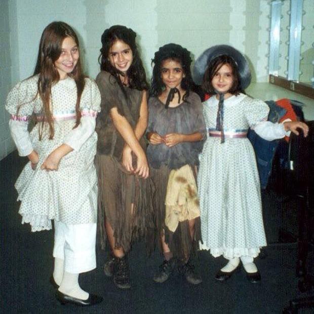 Laura Lobo participou de 'Les Misérables' ainda criança (Foto: Arquivo pessoal)