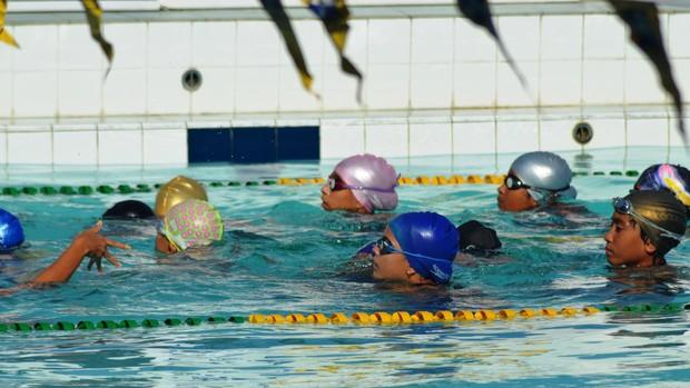 Nordestino de natação acontece em Aracaju (Foto: Felipe Martins/GLOBOESPORTE.COM)