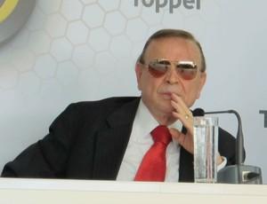 José Maria Marin em evento da FPF (Foto: Marcos Guerra/Globoesporte.com)