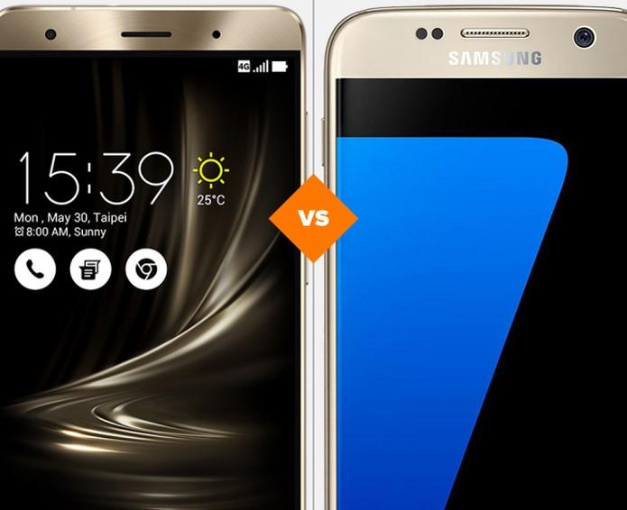 Zenfone 3 Deluxe ou Galaxy S7: veja qual celular top de linha se sai melhor em comparativo (Foto: Arte/TechTudo)