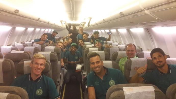 chapecoense libertadores voo embarque venezuela  (Foto: Divulgação / Chapecoense)
