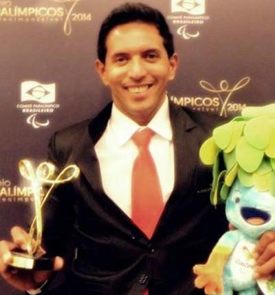 Luis Carlos Cardoso no Prêmio Brasil Paralímpico (Foto: Arquivo Pessoal)