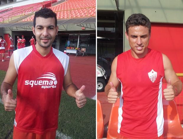 Ricardo Oliveira e Totonho, reforços do Rio Branco para a Série C (Foto: João Paulo Maia)