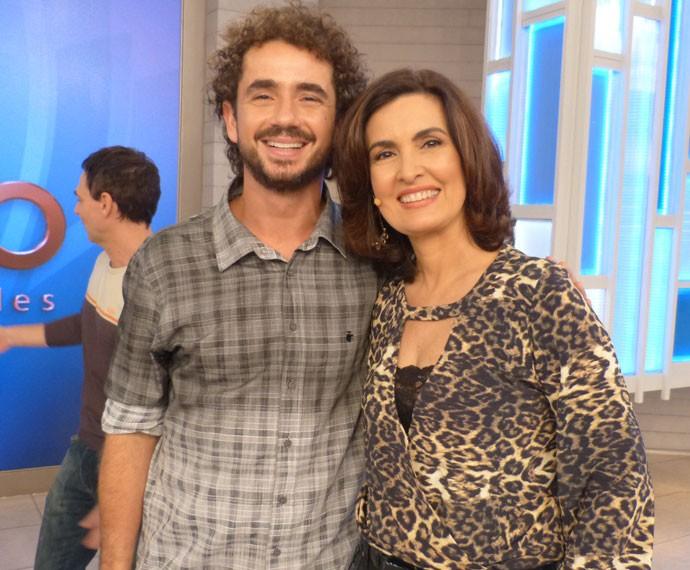 Felipe Andreoli e Fátima Bernardes  (Foto: Marcele Bessa/Gshow)
