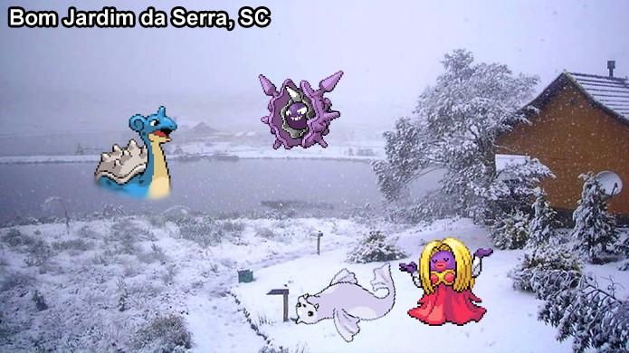Há poucos pokémons de Gelo em Pokémon Go e ter que capturá-los onde há neve no Brasil seria muito difícil (Foto: Reprodução/Rafael Monteiro)