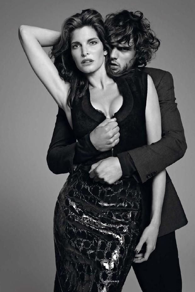 Em 2015, Stephanie Seymour  foi fotografada com o brasileiro Marlon Teixeira na Vogue Paris (Foto: Terry Richardson)