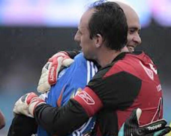 Marcos e Rogerio Ceni reprodução (Foto: Reprodução / Facebook)