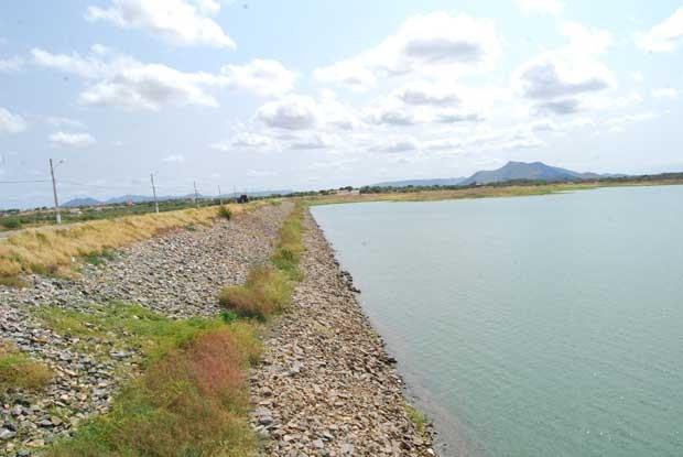 No reservatório Itans, que atende o Seridó, o nível de água está em 18,2% da capacidade total (Foto: Sidney Silva)