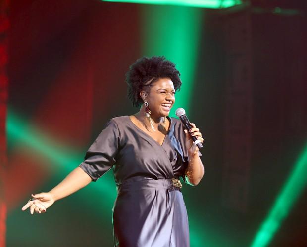 Mais magra, Ellen Oléria arrasou no palco do The Voice (Foto: Isabella Pinheiro/Gshow)