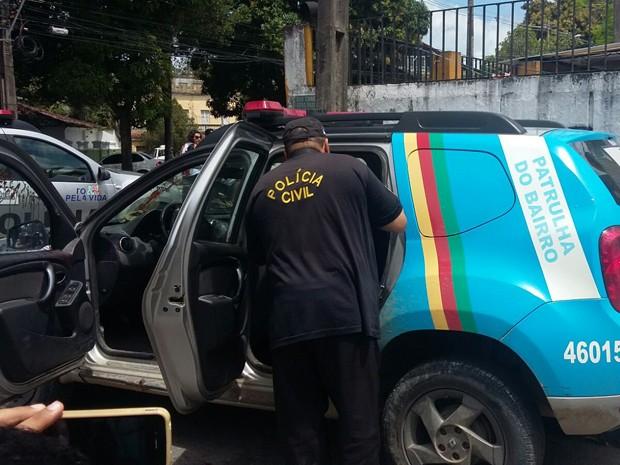 Soldado atirou em cabo da PM na manhã deste domingo (Foto: Danielle Fonseca / TV Globo)