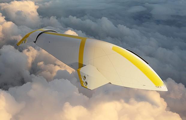 Aeronave no estilo cruzeiro é projeto de designer inglês (Foto: Divulgação)