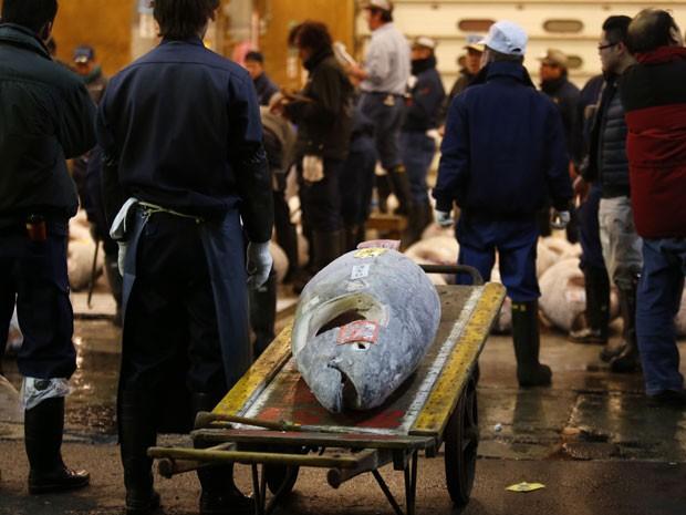 Mercado de peixe de Tsukiji, em Tóquio (Foto: Koji Sasahara/AP Photo)