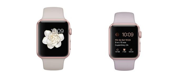 31691d35ff0 Versão em alumínio na cor dourado rosado (Foto  Divulgação Apple)