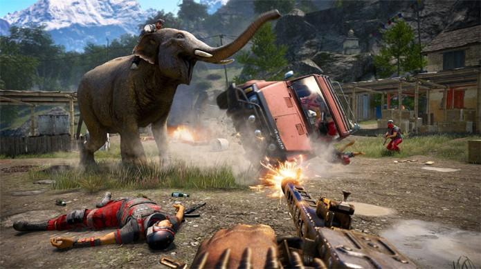 Bug de Far Cry 4 no PlayStation 3 causou mais dano que elefantes do jogo (Foto: Mi Taringa!)