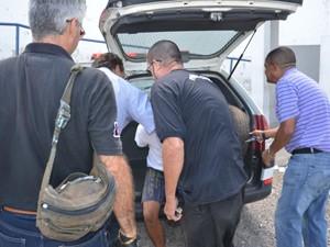Suspeito de matar estudante na Paraíba é transferido para o Presídio do Roger (Foto: Walter Paparazzo/G1)