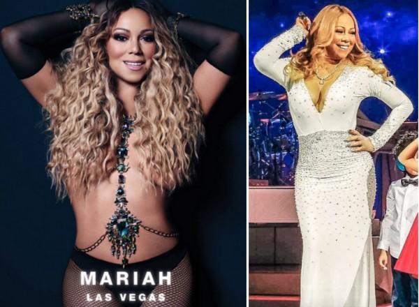 A foto que os fãs de Mariah Carey dizem ter sido editada (Foto: Instagram)