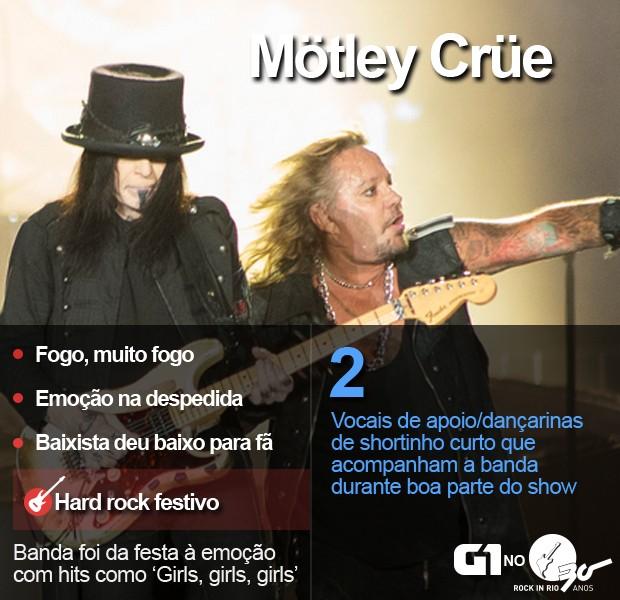 Mötley Crüe toca no Palco Mundo do Rock in Rio (Foto: Luciano Oliveira/G1)
