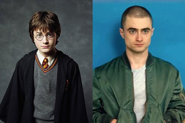 Daniel Radcliffe em Harry Potter e no filme Imperium (Foto: Divulgação)