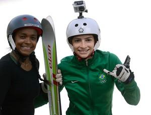 Josi Santos e Lais Souza Ski Aerials (Foto: Mauro Horita)