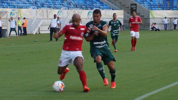 América-RN x Icasa - Cascata (Foto: Augusto Gomes/GloboEsporte.com)