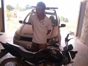 moto receptada buriti 2 (Foto: Divulgação/Ascom PM-TO)