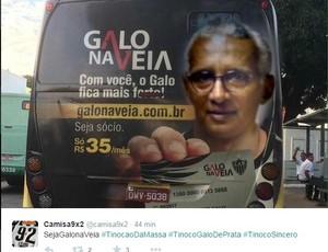 Isaías Tinoco vira meme de atleticanos (Foto: Reprodução/Twitter)