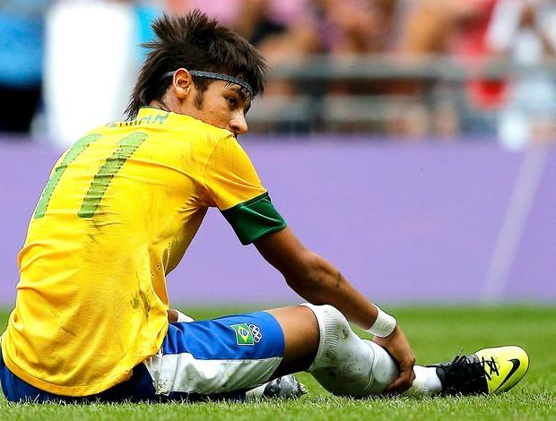 Neymar na partida do Brasil x México final Olimpíadas (Foto: Reuters)