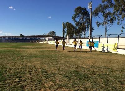 Araripina treinda para a estreia no Pernambucano sub-23 (Foto: Paulo Ricardo Sobral/ TV Grande Rio )