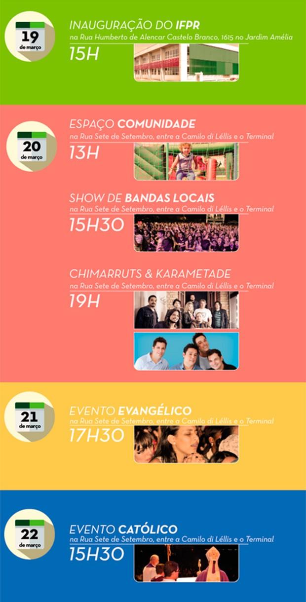 RPC TV apoia o aniversário de 22 anos de Pinhais (Foto: Divulgação)