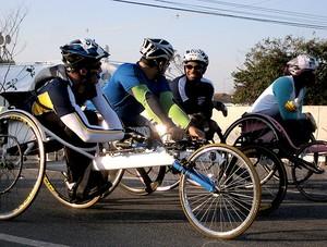 Cadeirantes Maratona de São Paulo corrida (Foto: Lucas Loos / Globoesporte.com)