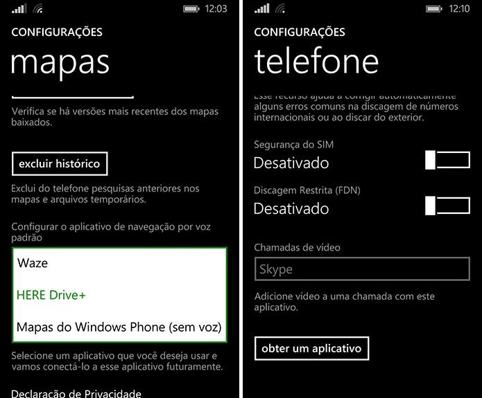 Windows Phone pode ter aplicativos padrões de chamadas de vídeo e GPS trocados (Foto: Reprodução/Elson de Souza)