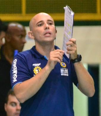 Reinaldo Bacilieri técnico do São José Vôlei (Foto: Tião Martins/ PMSJC)