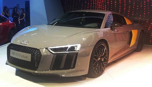 Audi R8 V10 no Salão do Automóvel 2016 (Foto: Talita Mônaco/Autoesporte)