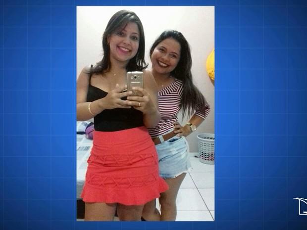 Karina Ferreira Brito e Kamila Ferreira Brito foram atingidas por policiais após terem furado uma barreira da Polícia Militar (Foto: Reprodução/TV Mirante)