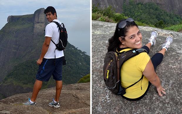 MONTAGEM - Testamos (EU ATLETA) - Mochila de hidratação João Paulo de Oliveira e Juliana de Oliveira (Foto: Editoria de arte)