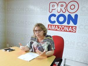Secretária executiva do Procon-AM, Rosely Fernandes (Foto: Adneison Severiano/G1 AM)