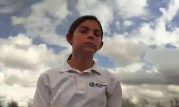 Alyssa Carson, de Baton Rouge, no Estado americano da Louisiana, está se preparando para ir a Marte em uma missão espacial em 2033.  (Foto: BBC)