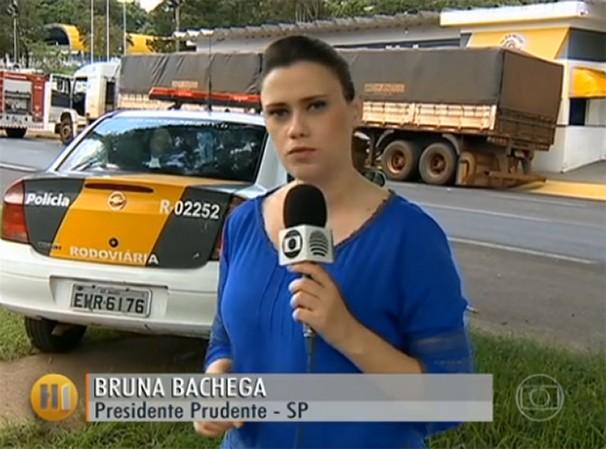 A repórter Bruna Bachega apresentou a matéria exibida no Hora 1 (Foto: Reprodução/TV Globo)