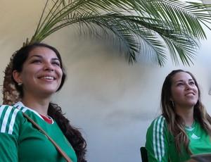 méxico Torcedoras mexicanas no hotel em Fortaleza (Foto: Janir Junior)