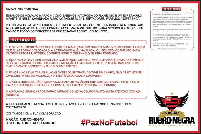 Torcida do Fla prepara surpresa para estreia na Libertadores (Foto: reprodução)