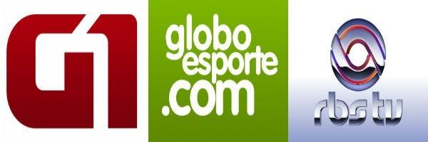 Sites G1 GE e RBS TV SC (Foto: Divulgação)