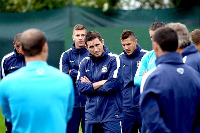 Lampard no treino do Manchester City (Foto: Reprodução / Twitter)