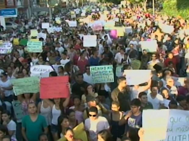 Manifestação Feira (Foto: Reprodução / TV Subaé)